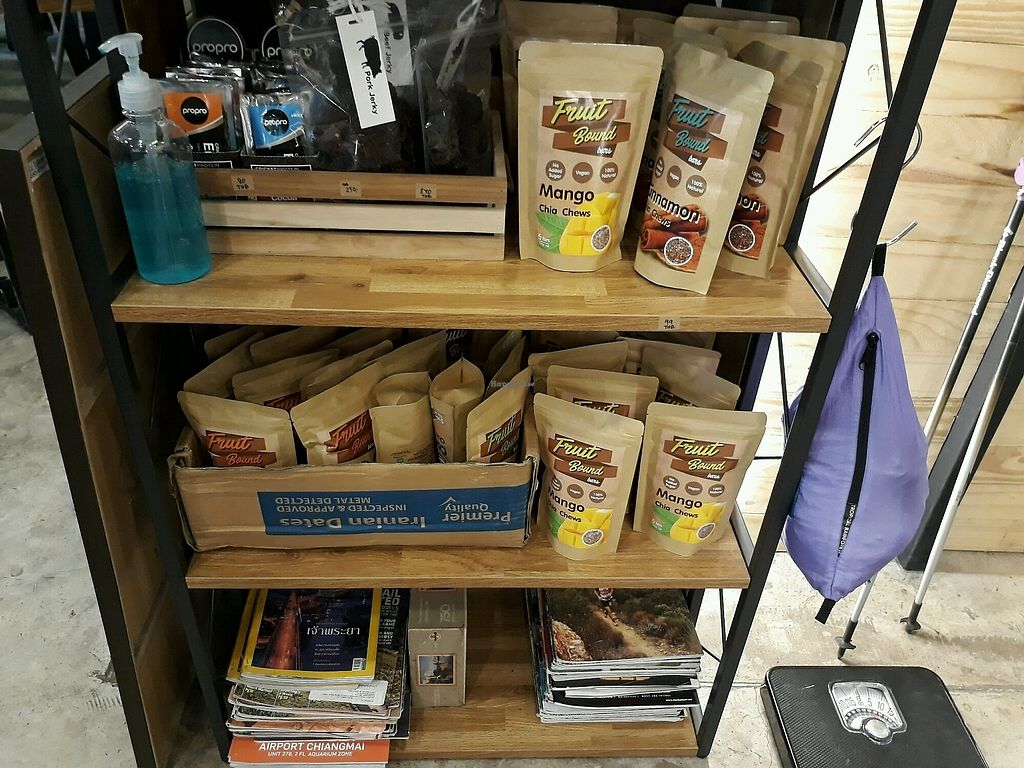 "Photo of Basecamp Coffee House  by <a href=""/members/profile/LilacHippy"">LilacHippy</a> <br/>Fruit Bound Bars (vegan) for sale <br/> January 28, 2018  - <a href='/contact/abuse/image/110110/351778'>Report</a>"