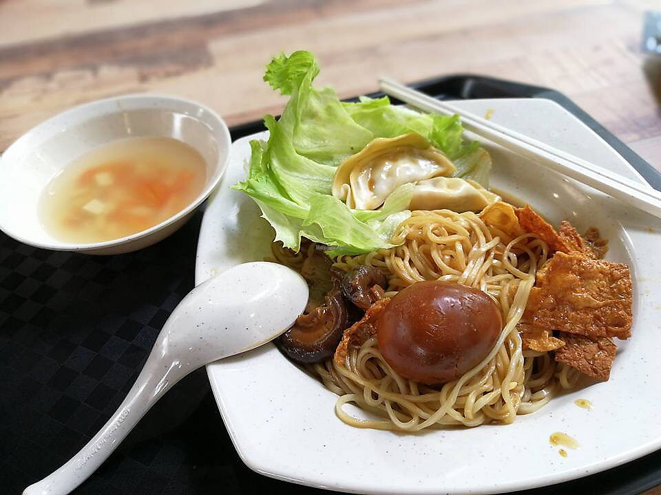 "Photo of Yuan Yuan Vegetarian Stall  by <a href=""/members/profile/CherylQuincy"">CherylQuincy</a> <br/>Braised Egg Noodles <br/> January 25, 2018  - <a href='/contact/abuse/image/110123/350728'>Report</a>"