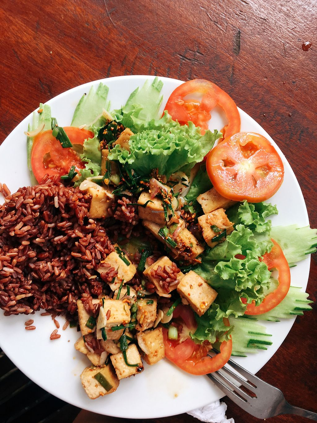 """Photo of Crane   by <a href=""""/members/profile/HappyCow1987"""">HappyCow1987</a> <br/>Khmer Lab with brown rice lemon grass, challots lime leaves etc <br/> January 22, 2018  - <a href='/contact/abuse/image/110127/349758'>Report</a>"""