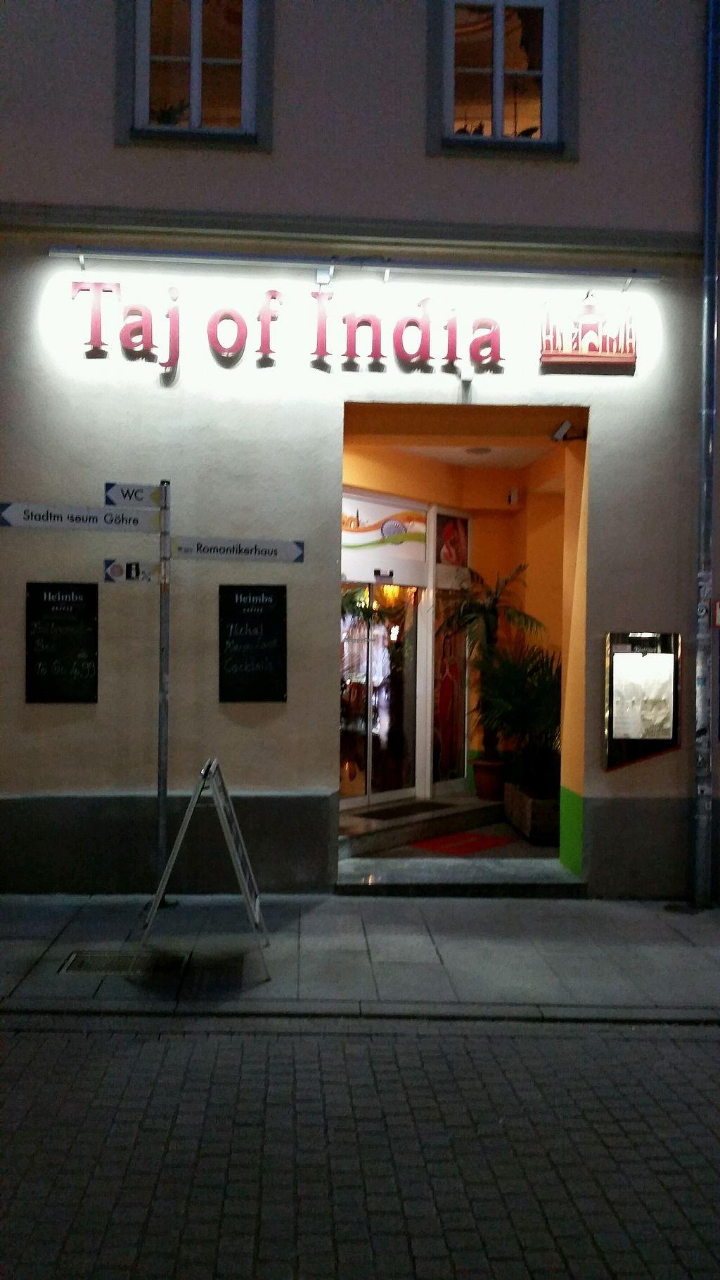 "Photo of Taj of India  by <a href=""/members/profile/DiscoStu"">DiscoStu</a> <br/>Entrance  <br/> February 13, 2018  - <a href='/contact/abuse/image/110164/358875'>Report</a>"