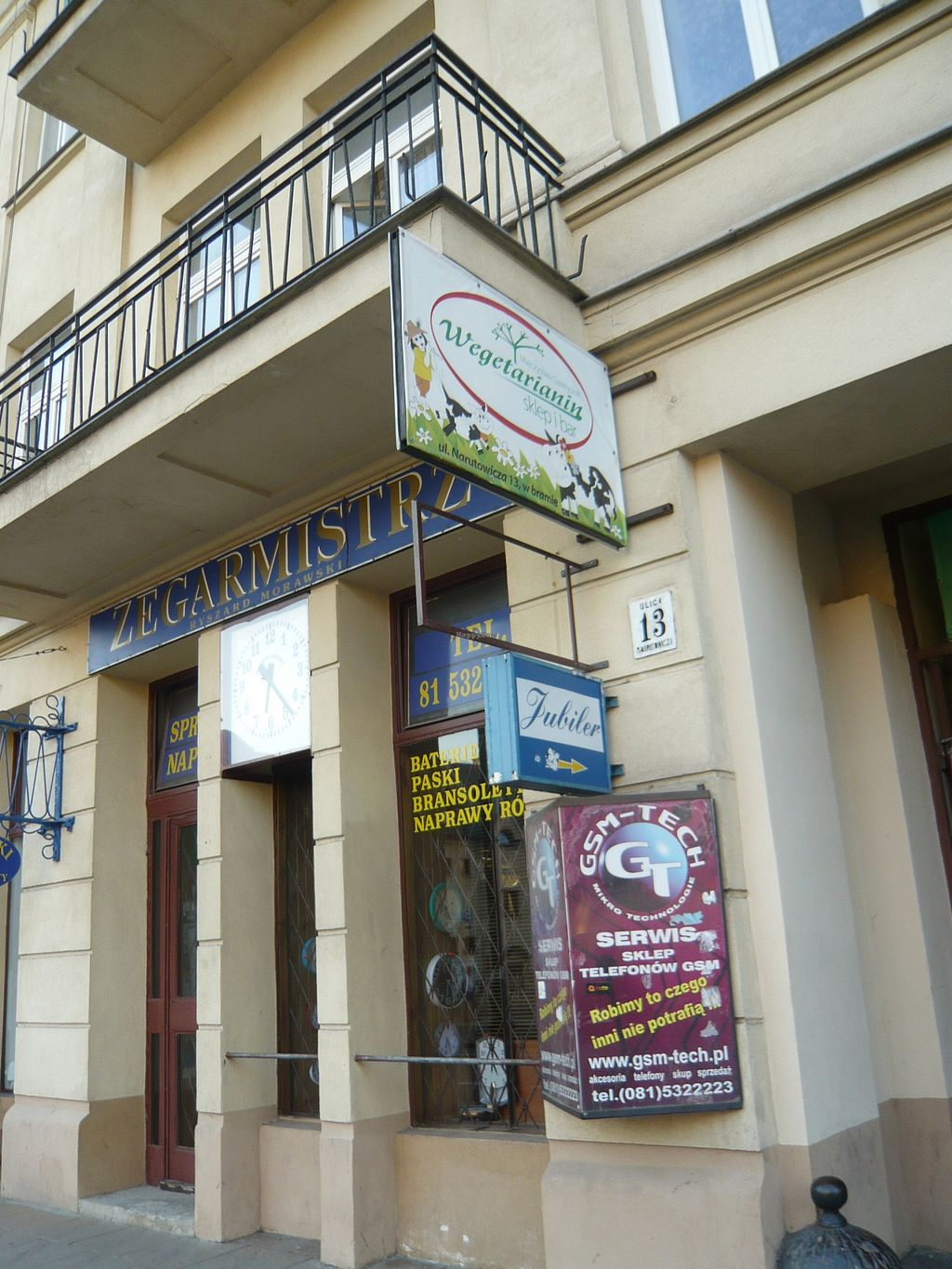 """Photo of Wegetarianin Bar Sklep  by <a href=""""/members/profile/travegi"""">travegi</a> <br/>the sign from the street <br/> August 31, 2015  - <a href='/contact/abuse/image/11018/116036'>Report</a>"""