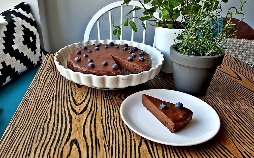 """Photo of Przystanek Kawa  by <a href=""""/members/profile/magdusia"""">magdusia</a> <br/>chickpea chocolate cake with blueberries <br/> January 24, 2018  - <a href='/contact/abuse/image/110258/350417'>Report</a>"""