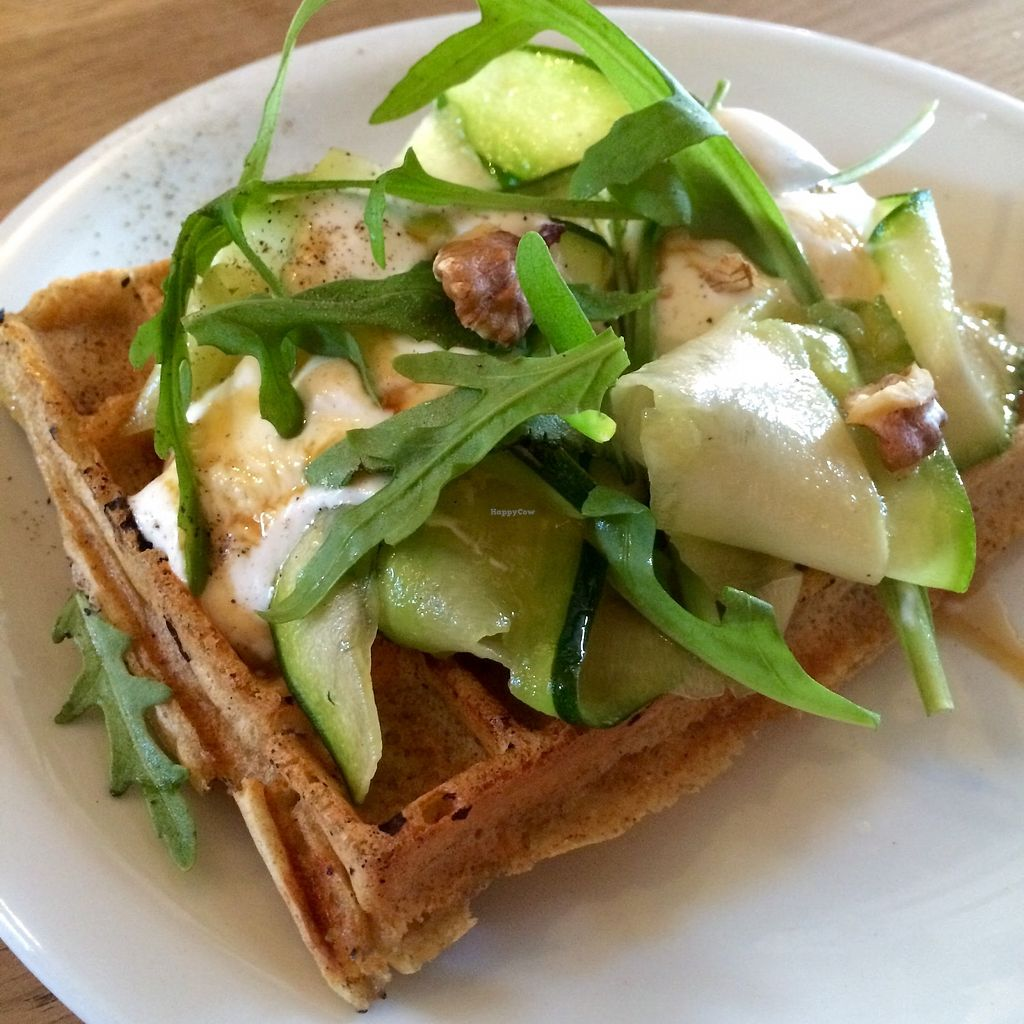 """Photo of Contrebande Bar  by <a href=""""/members/profile/NinaBeau"""">NinaBeau</a> <br/>Brunch Waffle  <br/> January 29, 2018  - <a href='/contact/abuse/image/110305/352490'>Report</a>"""