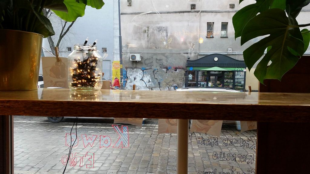"""Photo of Bubble Waffle Cafe  by <a href=""""/members/profile/FernandoMoreira"""">FernandoMoreira</a> <br/>View from inside <br/> January 24, 2018  - <a href='/contact/abuse/image/110320/350537'>Report</a>"""