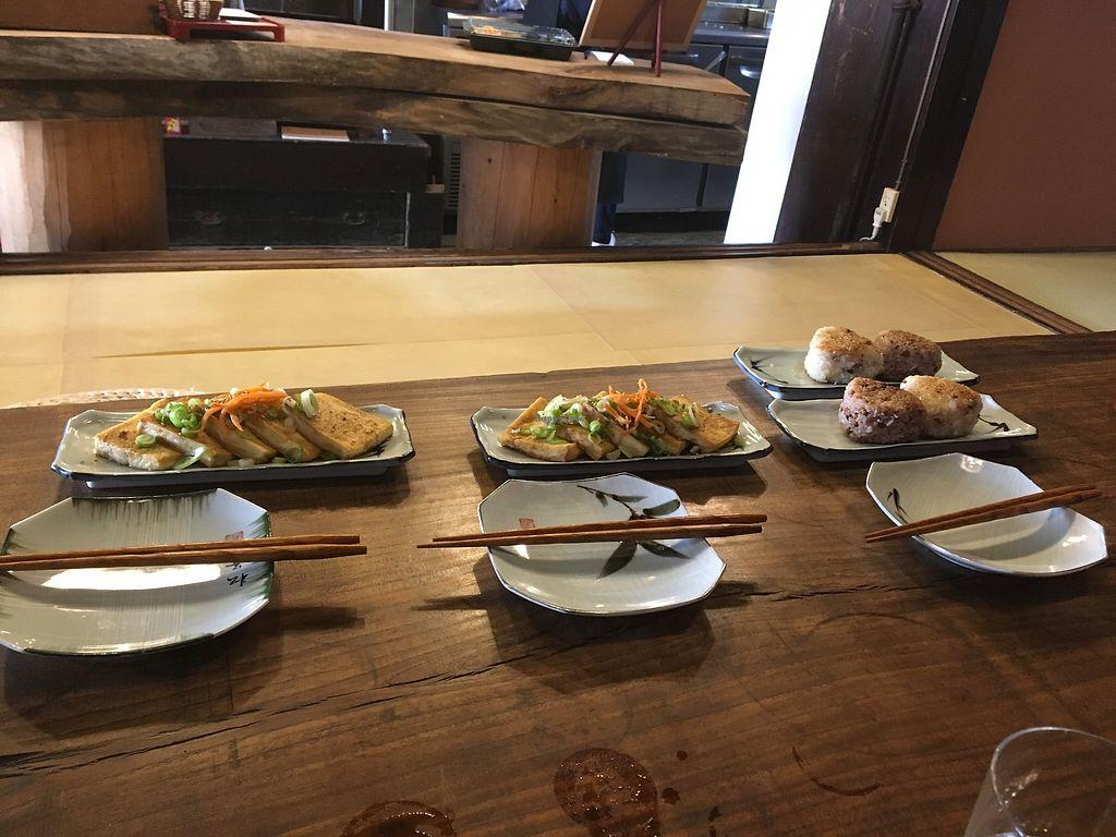 "Photo of Itadakizen Kyoto  by <a href=""/members/profile/JohnChiarini"">JohnChiarini</a> <br/>Tofu and Rice balls <br/> March 31, 2018  - <a href='/contact/abuse/image/110323/378715'>Report</a>"