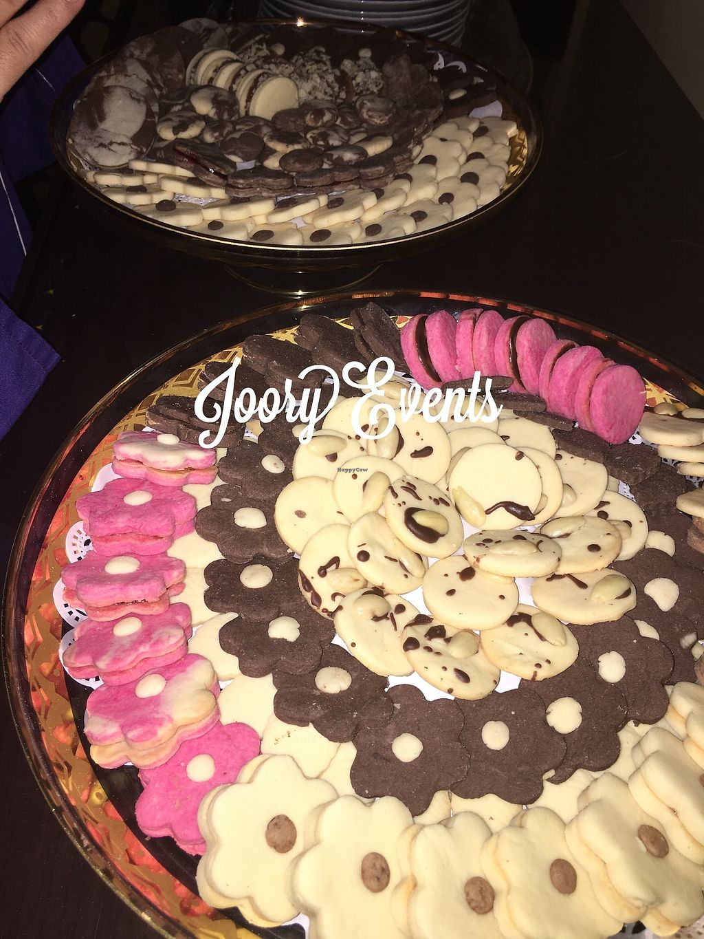 "Photo of CLOSED: JooryEvents  by <a href=""/members/profile/NoorAdel"">NoorAdel</a> <br/>Vegan petite Fours biscuits, some are topped with dark chocolate & almonds <br/> January 24, 2018  - <a href='/contact/abuse/image/110325/350571'>Report</a>"