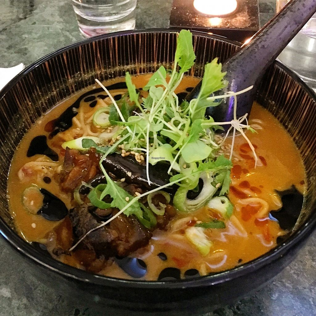 """Photo of Nood Ramen  by <a href=""""/members/profile/SeitanSeitanSeitan"""">SeitanSeitanSeitan</a> <br/>Vegan Tantanmen ramen <br/> January 25, 2018  - <a href='/contact/abuse/image/110342/350808'>Report</a>"""