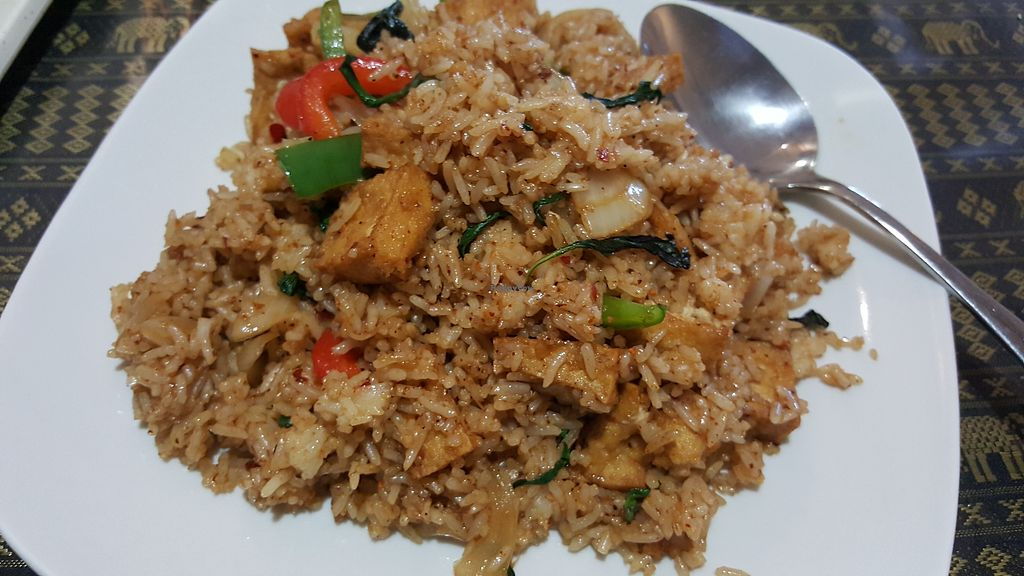 "Photo of Chao Praya  by <a href=""/members/profile/EatPlantsDaily"">EatPlantsDaily</a> <br/>Spicy rice dish with tofu <br/> January 25, 2018  - <a href='/contact/abuse/image/110364/350652'>Report</a>"