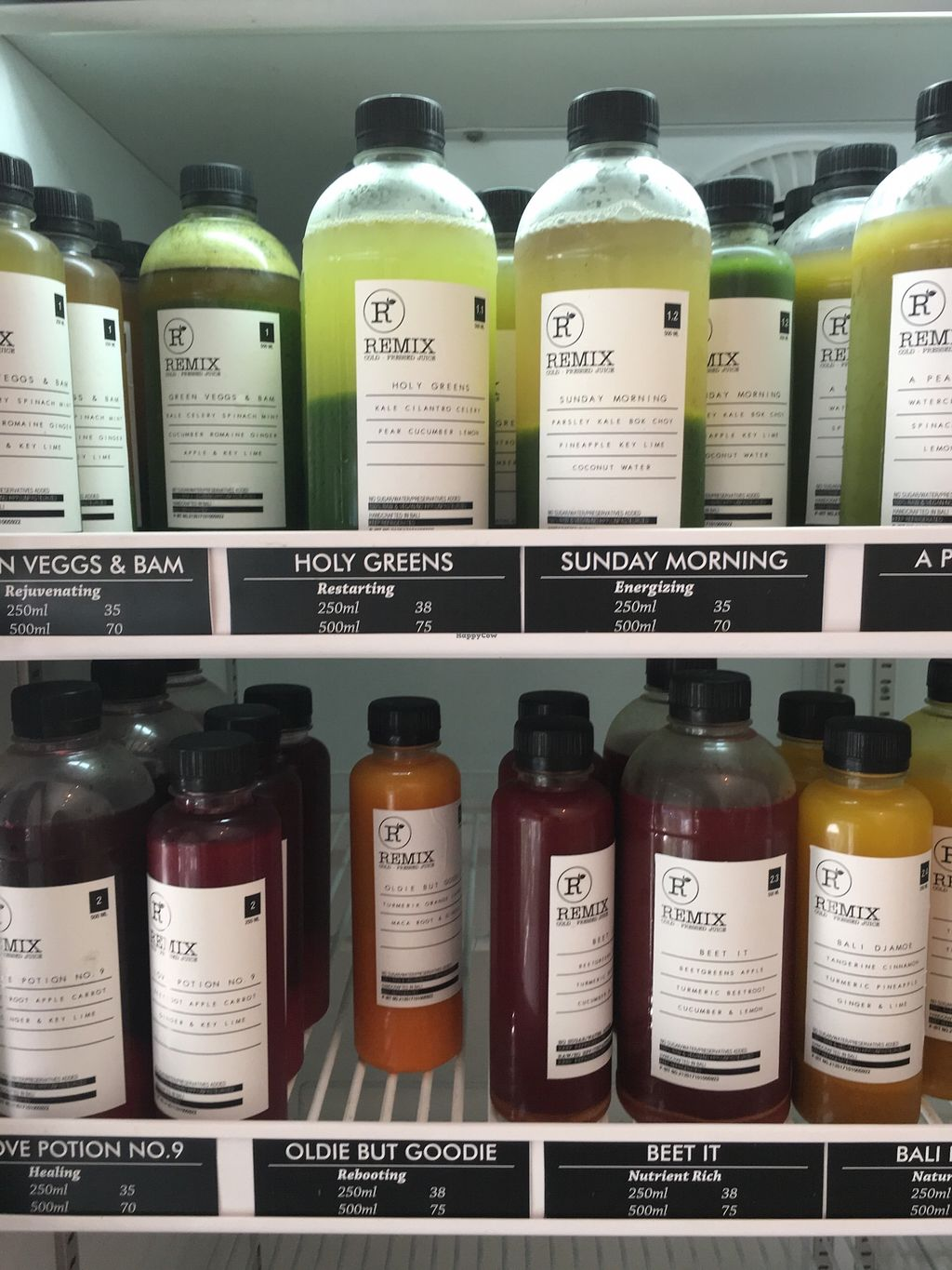 "Photo of Remix Bali  by <a href=""/members/profile/vanofvegan"">vanofvegan</a> <br/>Cold pressed juices <br/> January 29, 2018  - <a href='/contact/abuse/image/110378/352236'>Report</a>"