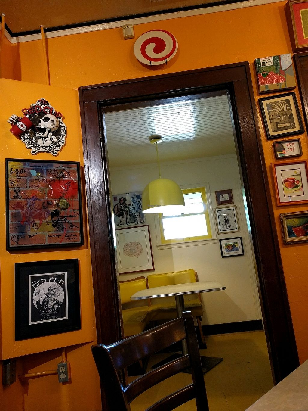 """Photo of Red Cup Coffee House  by <a href=""""/members/profile/ept"""">ept</a> <br/>red cup interior <br/> October 2, 2017  - <a href='/contact/abuse/image/11038/310895'>Report</a>"""