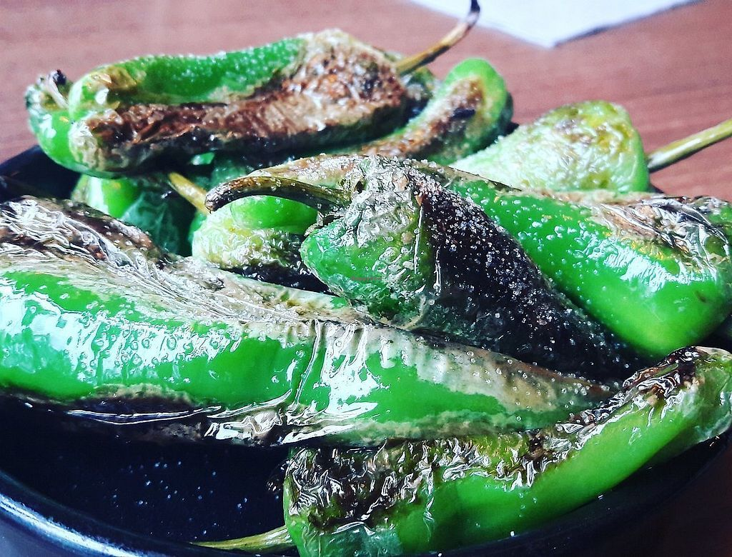 """Photo of Forum Bar  by <a href=""""/members/profile/Veganolive1"""">Veganolive1</a> <br/>Padron peppers <br/> January 30, 2018  - <a href='/contact/abuse/image/110390/352660'>Report</a>"""
