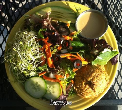 """Photo of Twisted Tree Cafe  by <a href=""""/members/profile/AshleyxMichelle"""">AshleyxMichelle</a> <br/>Big Garden Salad w/out Tomatoes and Peppers - Twisted Tree Cafe <br/> September 23, 2012  - <a href='/contact/abuse/image/11042/38352'>Report</a>"""