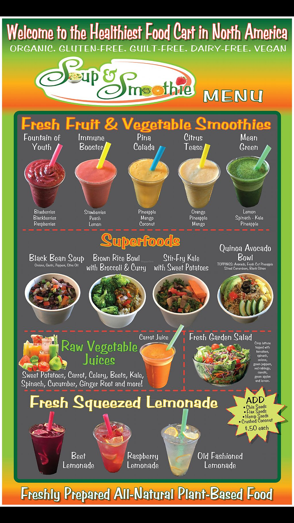 """Photo of Soup and Smoothie - Food Truck  by <a href=""""/members/profile/SimeonTobby"""">SimeonTobby</a> <br/>Soup & Smoothie - Menu <br/> February 21, 2018  - <a href='/contact/abuse/image/110438/361926'>Report</a>"""
