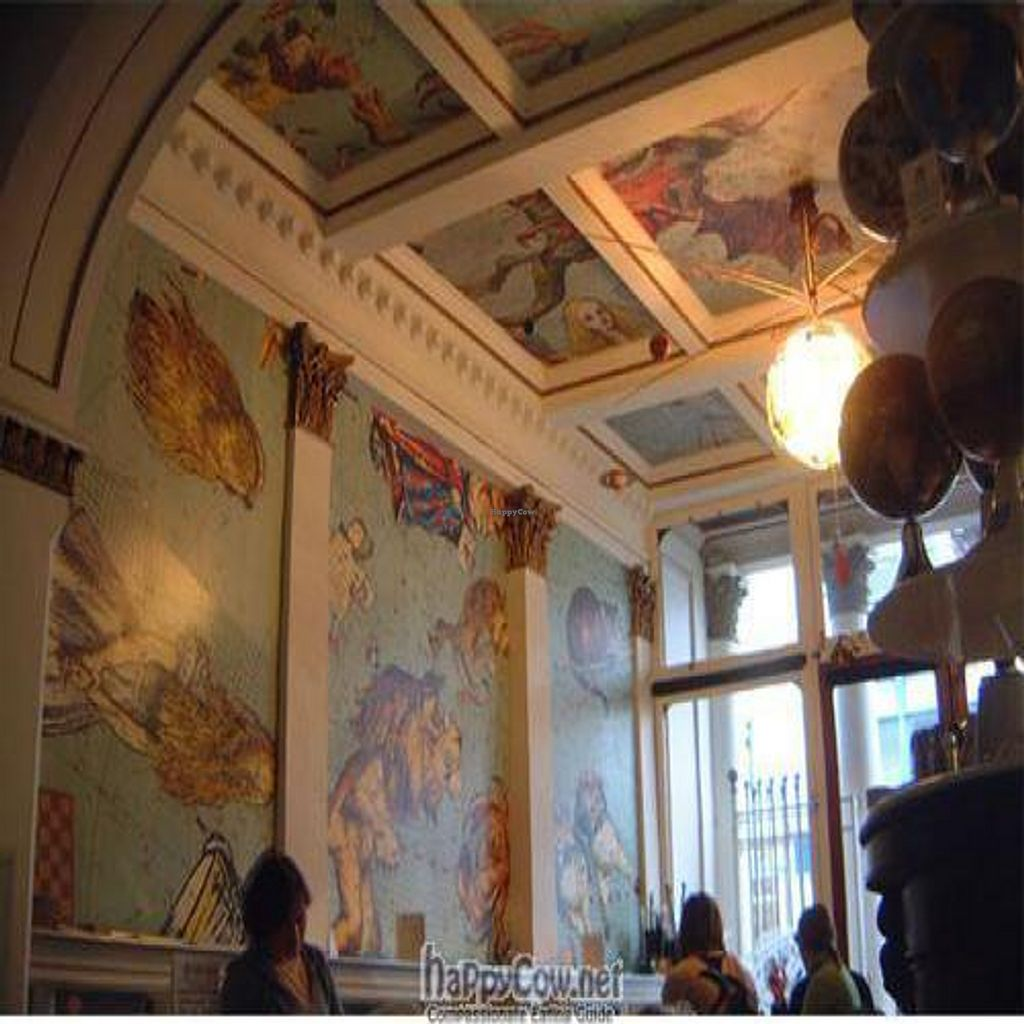 """Photo of CLOSED: The Orrery  by <a href=""""/members/profile/jamesbt"""">jamesbt</a> <br/>An Award winning vegetarian cafe, The Orrery Cafe is to be found at 15 Union Street, Ryde, Isle of Wight. The walls of the cafe are muralled, depicting a celestial globe, hanging from the pole star in the center of the ceiling, is one of the UK's finest planetariums. Consequently, if you step inside the Orrery Cafe, you are in fact stepping inside a model of our universe and can witness the movement of the major planets of our Solar system (including Pluto). The Planets all move correctly in relation to one another. Teas and light meals. Beyond the cafe is a museum dedicated to Donald McGill - King of the Seaside Postcard <br/> August 29, 2010  - <a href='/contact/abuse/image/11043/5662'>Report</a>"""