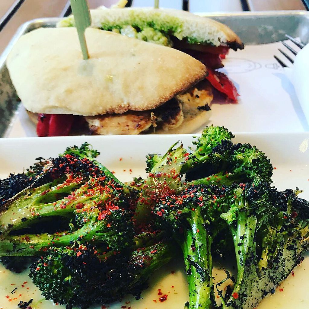 """Photo of Bellwether  by <a href=""""/members/profile/BlakeAdele"""">BlakeAdele</a> <br/>A couple vegan options! Asked for the veggie sandwich with a side of broccoli and it was amazing!  <br/> February 25, 2018  - <a href='/contact/abuse/image/110452/363613'>Report</a>"""