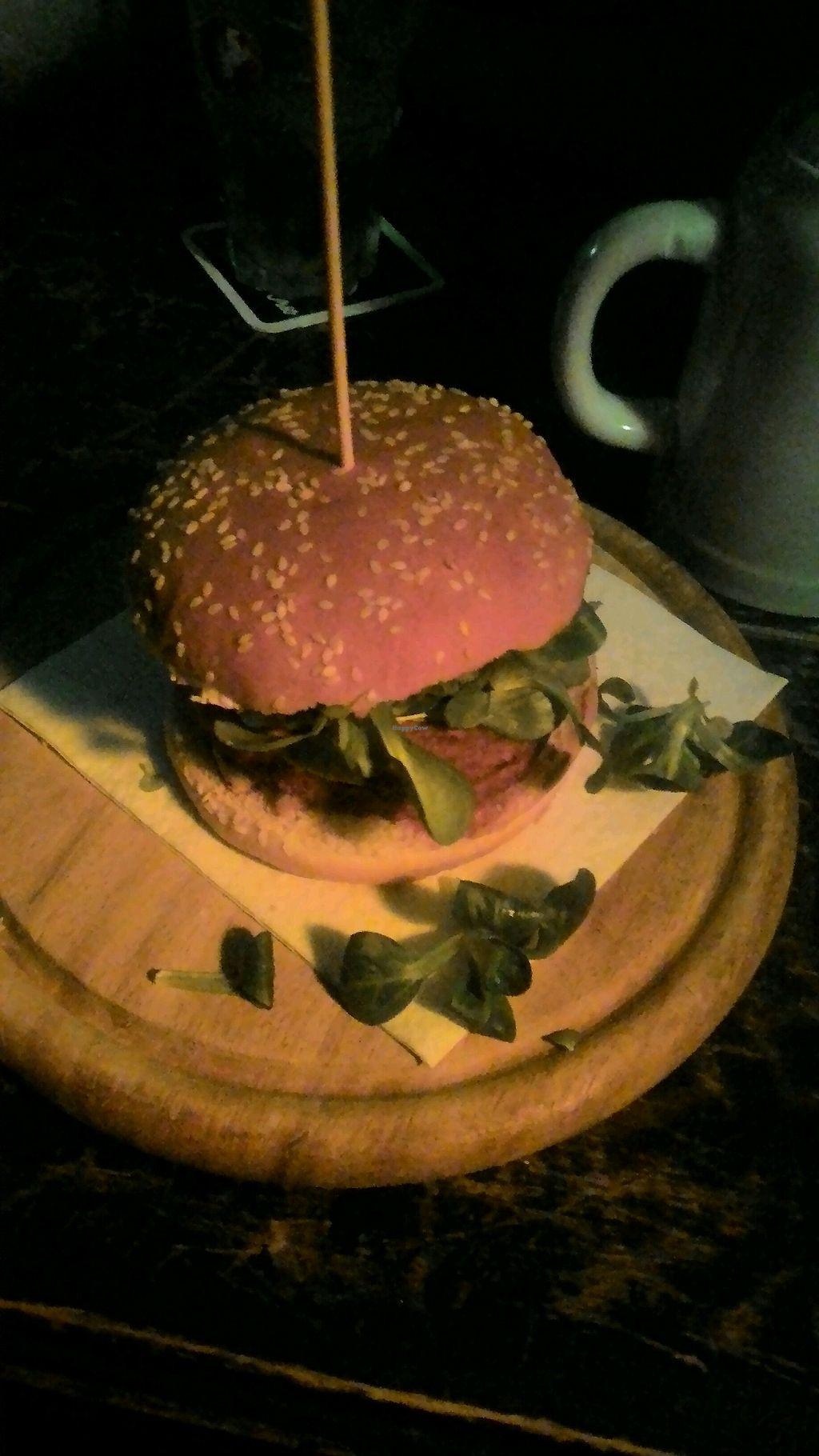 "Photo of Loch Ness Pub  by <a href=""/members/profile/baldanza"">baldanza</a> <br/>black vegan burger <br/> January 27, 2018  - <a href='/contact/abuse/image/110472/351657'>Report</a>"