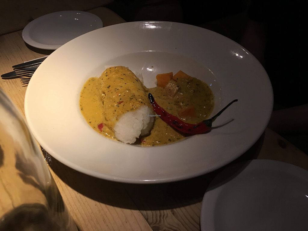"Photo of The Flying Horse  by <a href=""/members/profile/LucySaunders"">LucySaunders</a> <br/>Spiced coconut curry <br/> March 10, 2018  - <a href='/contact/abuse/image/110474/369081'>Report</a>"