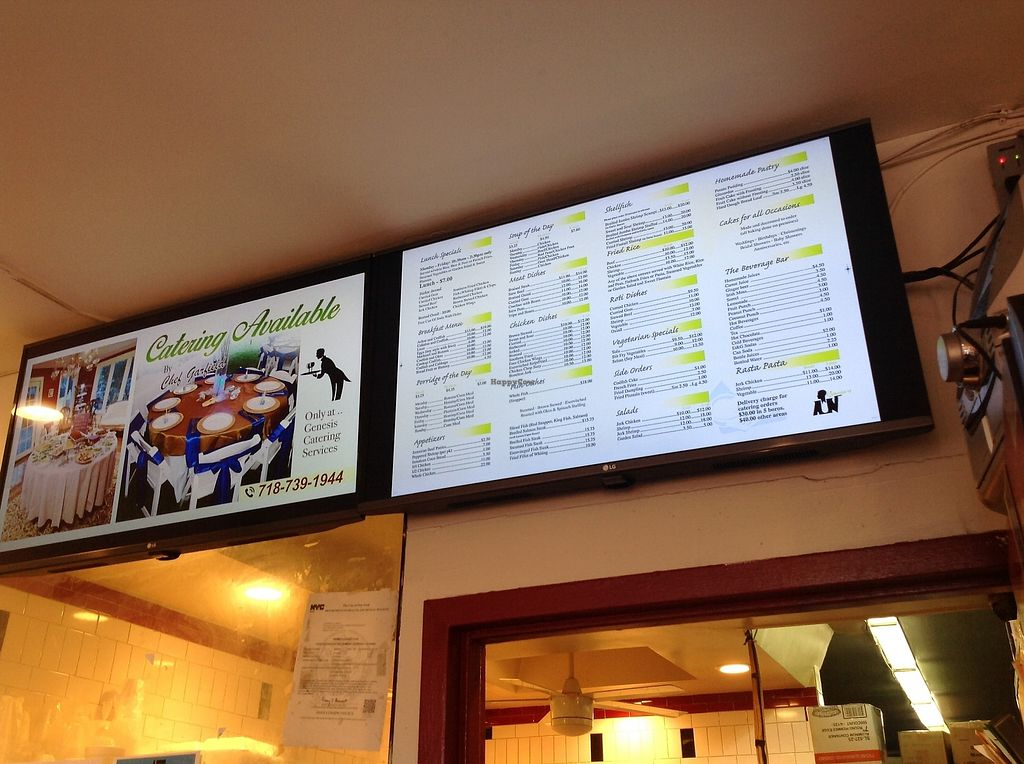 """Photo of Genesis  by <a href=""""/members/profile/SendNooch"""">SendNooch</a> <br/>Their menu. Their vegetarian food is vegan <br/> January 27, 2018  - <a href='/contact/abuse/image/110490/351287'>Report</a>"""