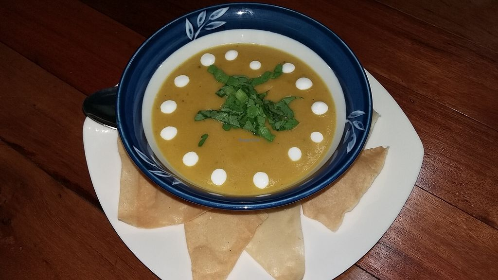 "Photo of Nomad Kitchen & Bar  by <a href=""/members/profile/Nomadkitchen%26bar"">Nomadkitchen&bar</a> <br/>Vegan spiced pumpkin soup <br/> January 29, 2018  - <a href='/contact/abuse/image/110494/352371'>Report</a>"