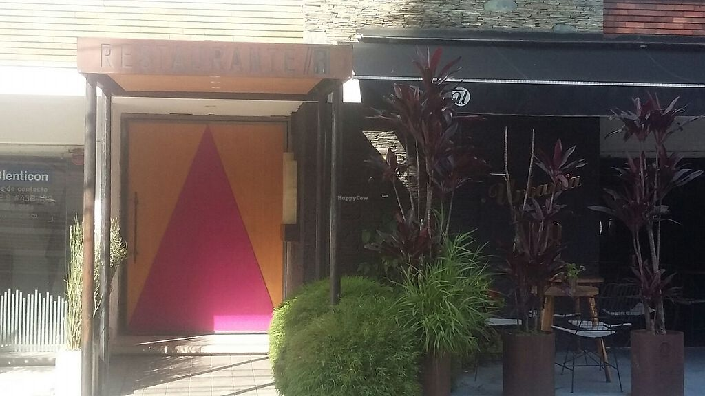"""Photo of Paralelo Diecesiete 17  by <a href=""""/members/profile/Zambezikid"""">Zambezikid</a> <br/>The yellow / red (closed) entrance of Restaurante //17 ... or Paralelo Diecesiete, Calle 8, Parque Poblado <br/> February 1, 2018  - <a href='/contact/abuse/image/110520/353788'>Report</a>"""