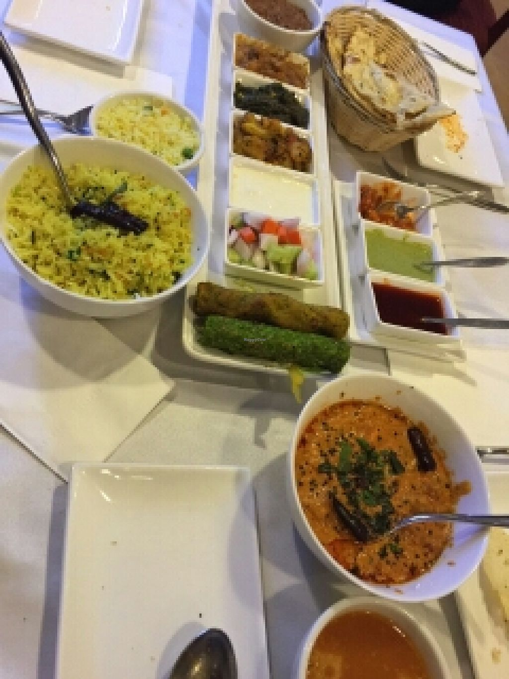 """Photo of Khana Khazana  by <a href=""""/members/profile/inthesewords"""">inthesewords</a> <br/>Thali set, with lemon rice and paneer achaari ♡ <br/> March 8, 2016  - <a href='/contact/abuse/image/11052/139337'>Report</a>"""