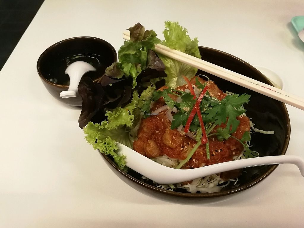 """Photo of Tidmor Restaurant  by <a href=""""/members/profile/iFreeze"""">iFreeze</a> <br/>Soya tomato noodles <br/> February 13, 2018  - <a href='/contact/abuse/image/110544/358808'>Report</a>"""