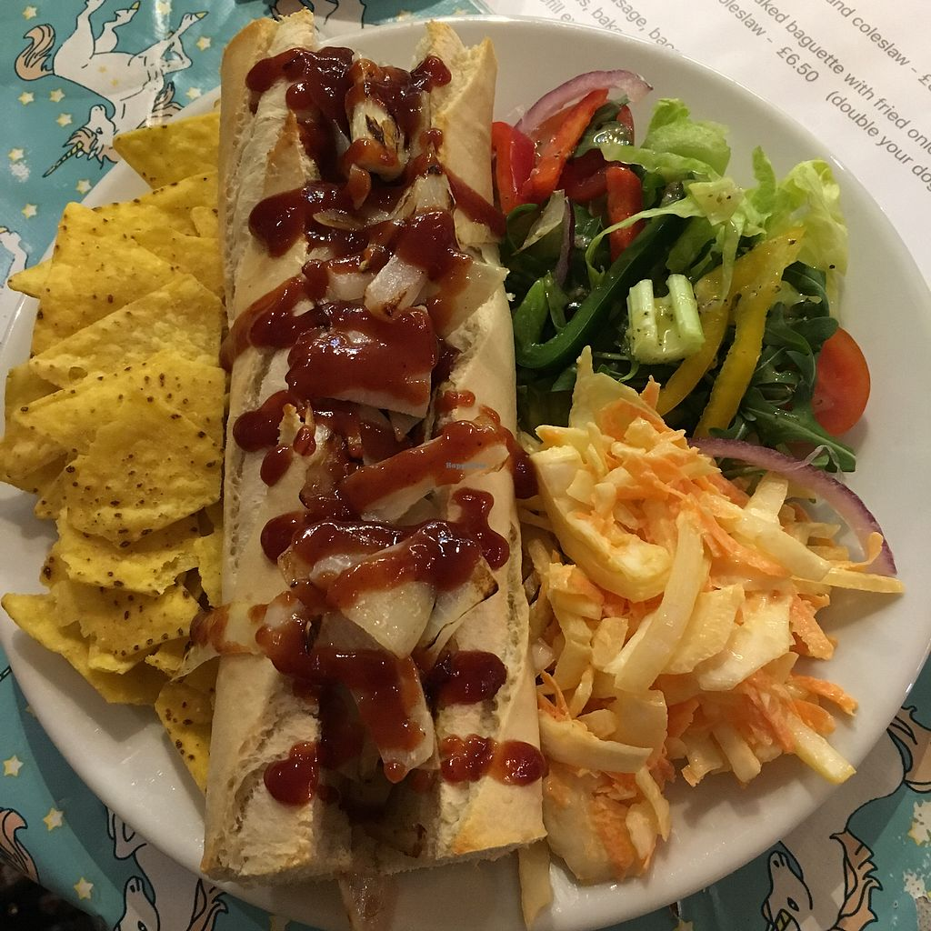 """Photo of The V Word  by <a href=""""/members/profile/romyhoskin"""">romyhoskin</a> <br/>Vegan Hot Dog  <br/> February 20, 2018  - <a href='/contact/abuse/image/110551/361660'>Report</a>"""