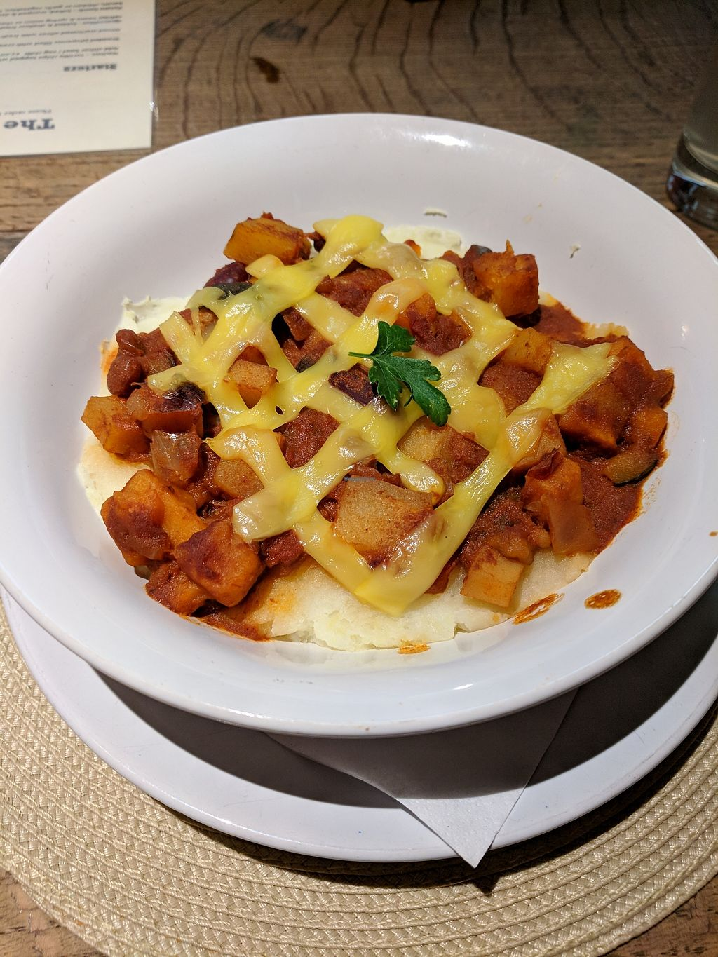 """Photo of The Chambers  by <a href=""""/members/profile/Pupnik"""">Pupnik</a> <br/>Vegan chilli mash bowl <br/> January 29, 2018  - <a href='/contact/abuse/image/110553/352444'>Report</a>"""