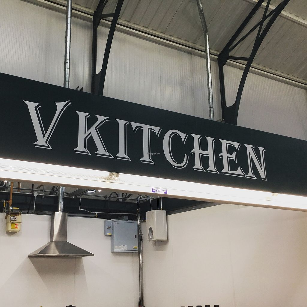 "Photo of CLOSED: V Kitchen - Food Stall  by <a href=""/members/profile/veggiekitchenfr"">veggiekitchenfr</a> <br/>The sign on our stall so that you can find us!  <br/> January 28, 2018  - <a href='/contact/abuse/image/110575/351784'>Report</a>"