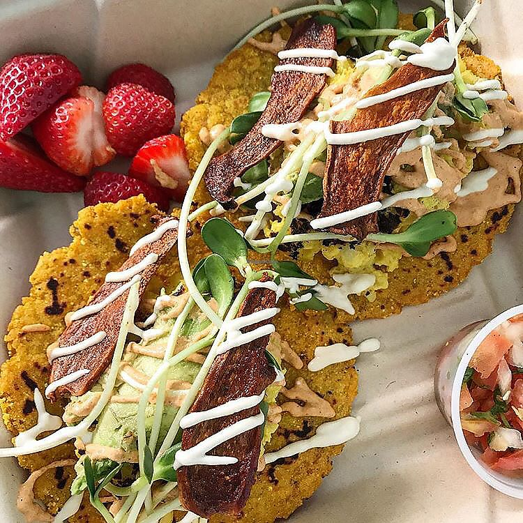 """Photo of Barefoot Bakery & Market  by <a href=""""/members/profile/mutant%20bean"""">mutant bean</a> <br/>Tacos  <br/> January 28, 2018  - <a href='/contact/abuse/image/110580/352033'>Report</a>"""
