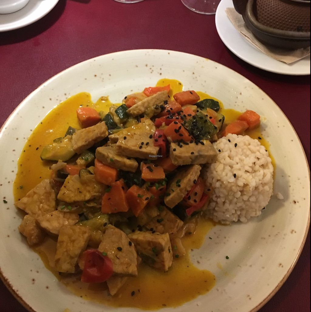 "Photo of Biocenter Restaurant Vegetaria  by <a href=""/members/profile/KousKitchen"">KousKitchen</a> <br/>tempeh curry <br/> June 5, 2017  - <a href='/contact/abuse/image/1105/266053'>Report</a>"