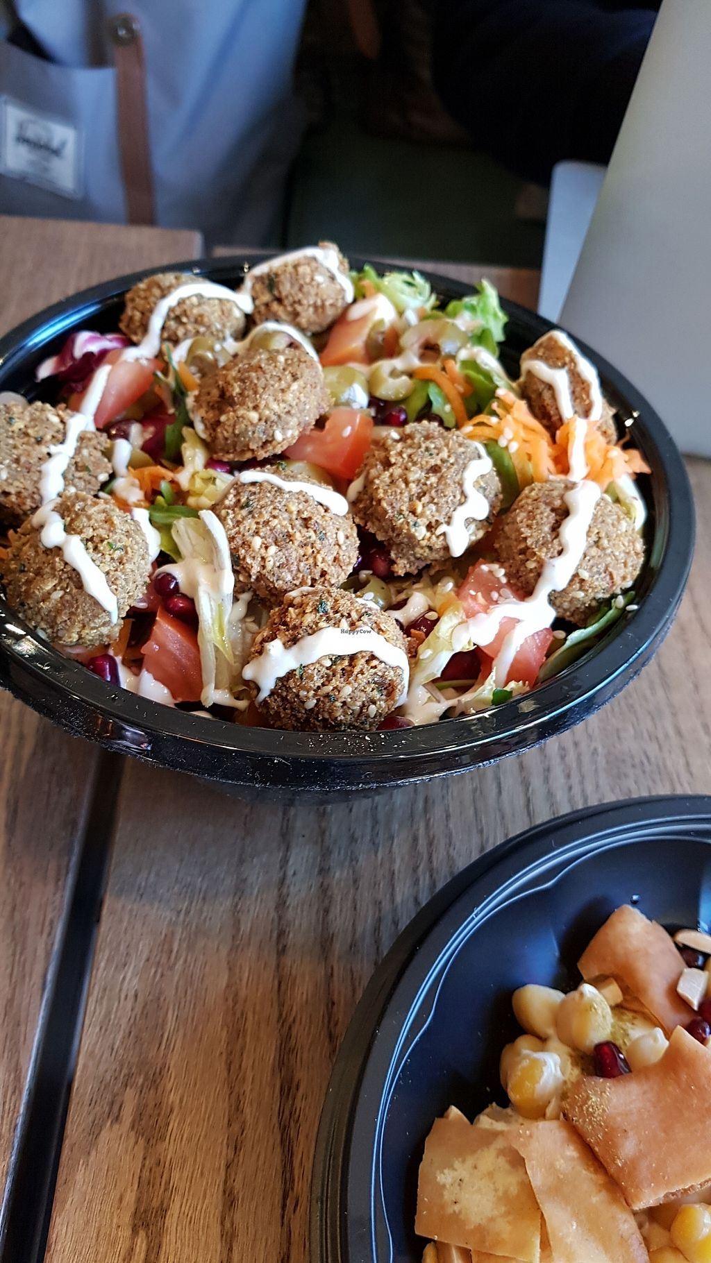 "Photo of Hummus Bar  by <a href=""/members/profile/hummusbargreece"">hummusbargreece</a> <br/>falafel salad <br/> January 29, 2018  - <a href='/contact/abuse/image/110610/352449'>Report</a>"