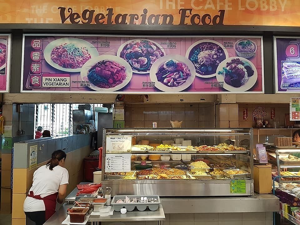 """Photo of Pin Xiang Vegetarian Stall   by <a href=""""/members/profile/CherylQuincy"""">CherylQuincy</a> <br/>Stall front <br/> February 8, 2018  - <a href='/contact/abuse/image/110615/356366'>Report</a>"""