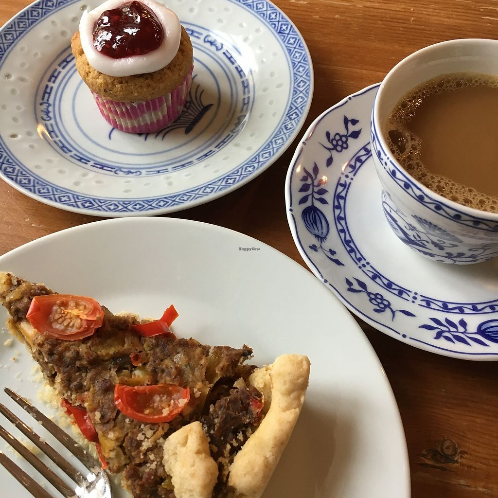 "Photo of Kahvila Lähde  by <a href=""/members/profile/SeitanSeitanSeitan"">SeitanSeitanSeitan</a> <br/>Coffee break with spicy pulled broad beans pie and Runeberg torta <br/> January 30, 2018  - <a href='/contact/abuse/image/110616/352807'>Report</a>"