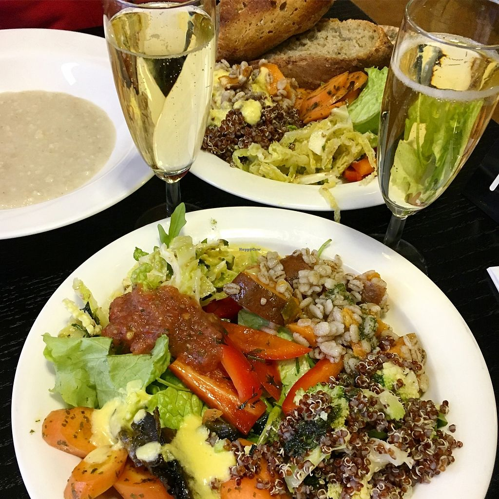 "Photo of Havikkiruokaravintola Loop  by <a href=""/members/profile/SeitanSeitanSeitan"">SeitanSeitanSeitan</a> <br/>Starter salads and porridge from buffet. With little sparkly.  <br/> January 30, 2018  - <a href='/contact/abuse/image/110618/352793'>Report</a>"