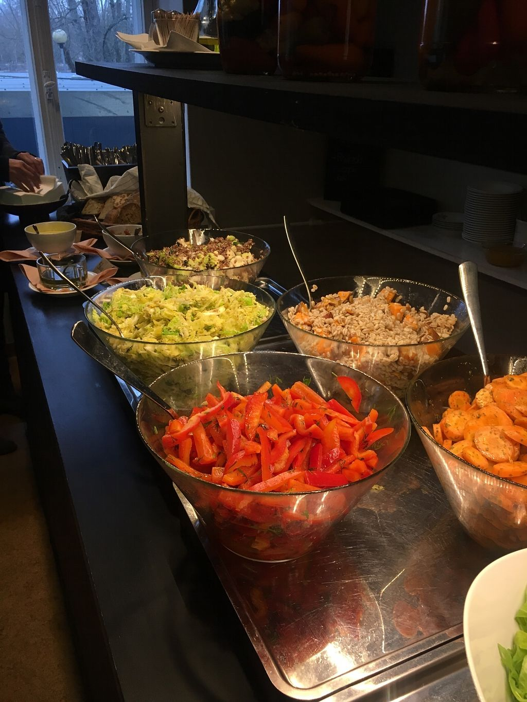 "Photo of Havikkiruokaravintola Loop  by <a href=""/members/profile/SeitanSeitanSeitan"">SeitanSeitanSeitan</a> <br/>Salads at vegan brunch <br/> January 30, 2018  - <a href='/contact/abuse/image/110618/352796'>Report</a>"