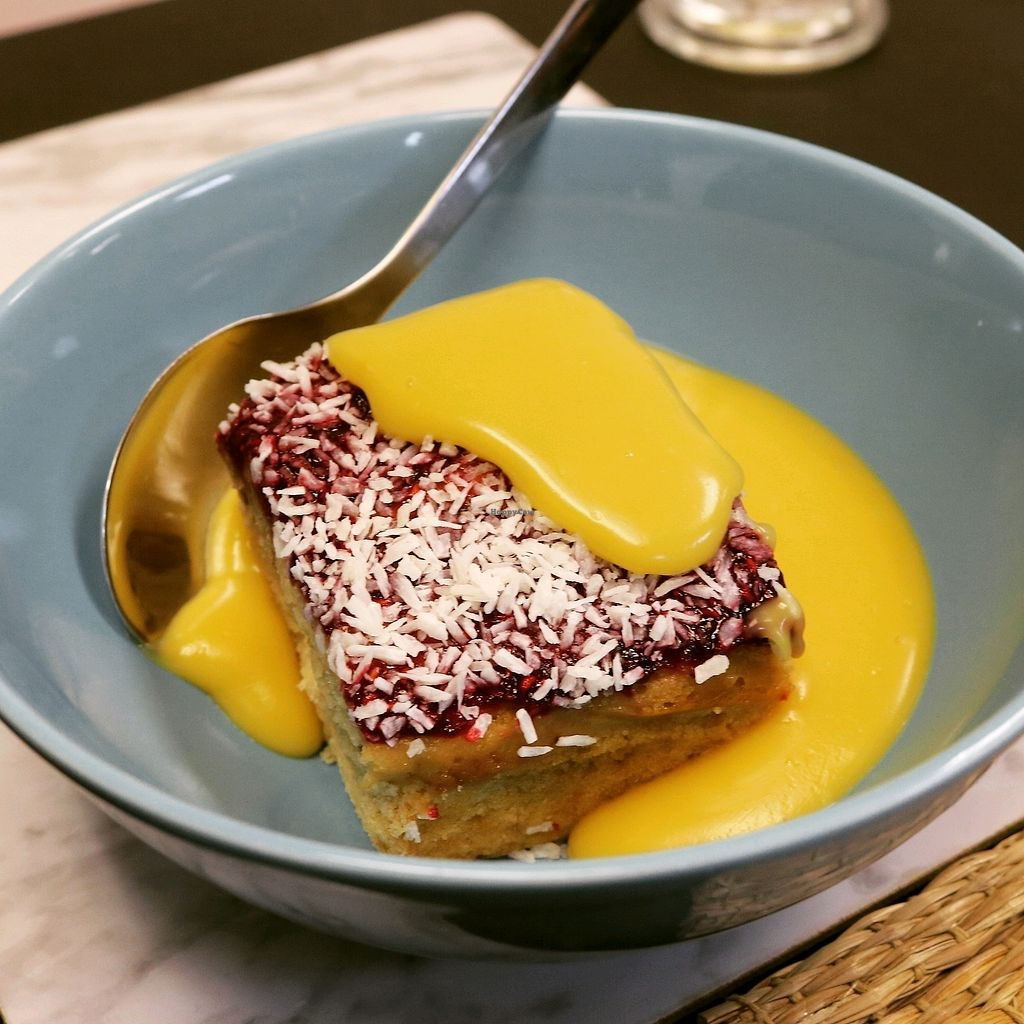 """Photo of Earth's Kitchen  by <a href=""""/members/profile/thomquinoa"""">thomquinoa</a> <br/>coconut sponge desert with custard  <br/> February 11, 2018  - <a href='/contact/abuse/image/110630/357855'>Report</a>"""