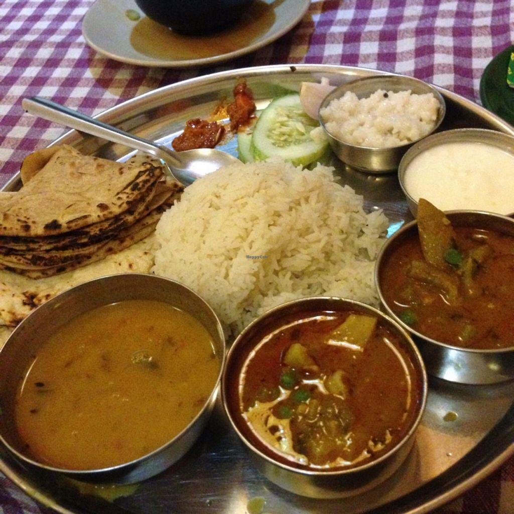 """Photo of New Marwadi Restaurant  by <a href=""""/members/profile/MangoTango"""">MangoTango</a> <br/>Thali set <br/> March 28, 2016  - <a href='/contact/abuse/image/11064/141574'>Report</a>"""