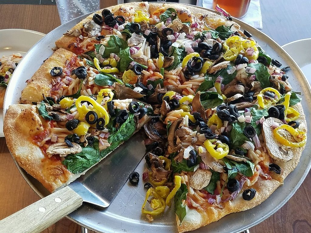 "Photo of Home Slice Pizza  by <a href=""/members/profile/jad37379"">jad37379</a> <br/>Vegan puzza <br/> March 3, 2018  - <a href='/contact/abuse/image/110650/365986'>Report</a>"