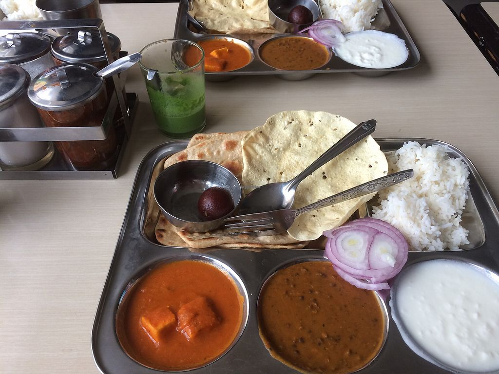 """Photo of Punjab Sweets - Chakraphet  by <a href=""""/members/profile/sharjna"""">sharjna</a> <br/>Vegetable thali -really good <br/> December 5, 2017  - <a href='/contact/abuse/image/11068/332476'>Report</a>"""