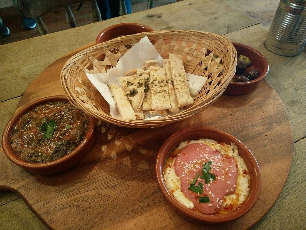 """Photo of Rick's Vegetarian  by <a href=""""/members/profile/kelsimarie91"""">kelsimarie91</a> <br/>Vegan Middle Eastern Breakfast  <br/> April 10, 2018  - <a href='/contact/abuse/image/110738/383248'>Report</a>"""