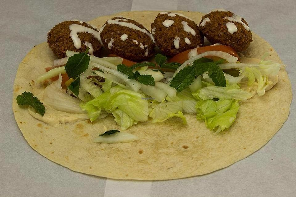 "Photo of Falafel Crunchy  by <a href=""/members/profile/JamesDaley"">JamesDaley</a> <br/>Falafel wrap (tahini sauce) <br/> January 30, 2018  - <a href='/contact/abuse/image/110784/352830'>Report</a>"
