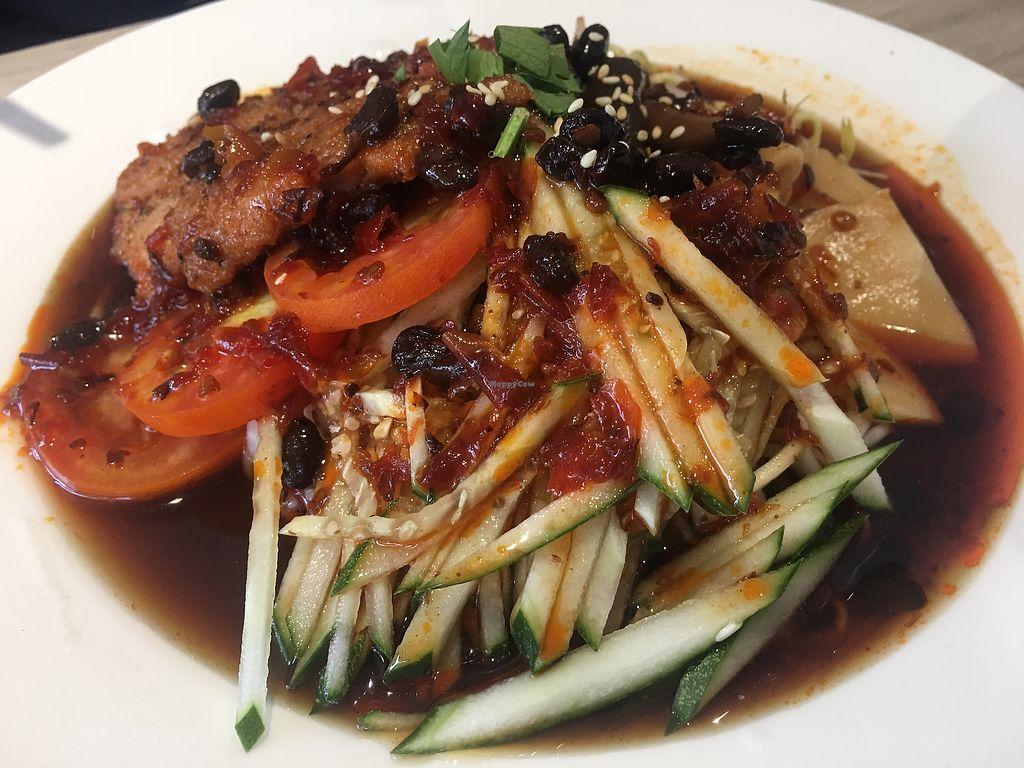 "Photo of O'bean Organic Soya Vegetarian Restaurant  by <a href=""/members/profile/BernardKoh"">BernardKoh</a> <br/>Pan Fried Chicken Cold Ramen <br/> February 24, 2018  - <a href='/contact/abuse/image/110791/363073'>Report</a>"