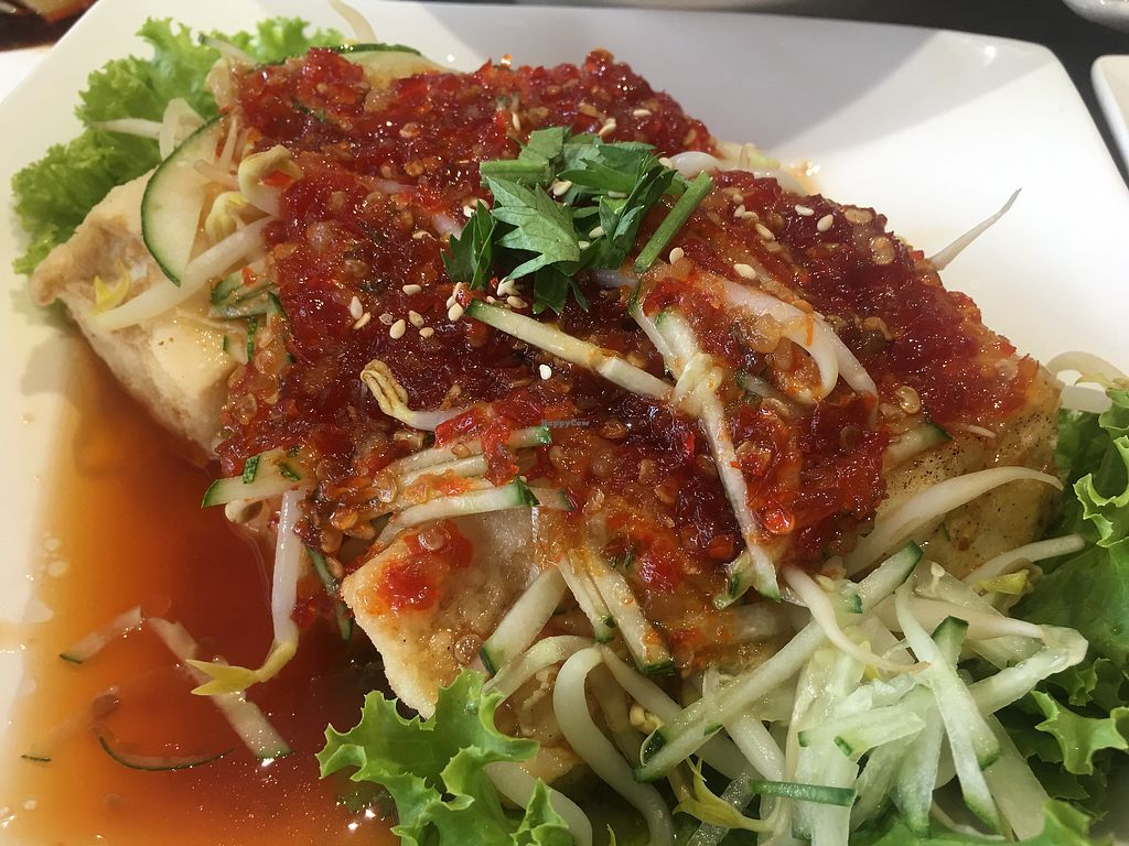 "Photo of O'bean Organic Soya Vegetarian Restaurant  by <a href=""/members/profile/BernardKoh"">BernardKoh</a> <br/>Thai Spicy Tofu <br/> February 24, 2018  - <a href='/contact/abuse/image/110791/363074'>Report</a>"