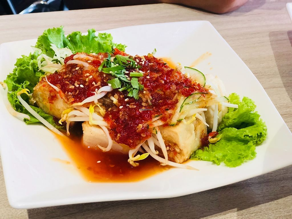 """Photo of O'bean Organic Soya Vegetarian Restaurant  by <a href=""""/members/profile/CherylQuincy"""">CherylQuincy</a> <br/>Thai Style Tofu <br/> February 25, 2018  - <a href='/contact/abuse/image/110791/363688'>Report</a>"""
