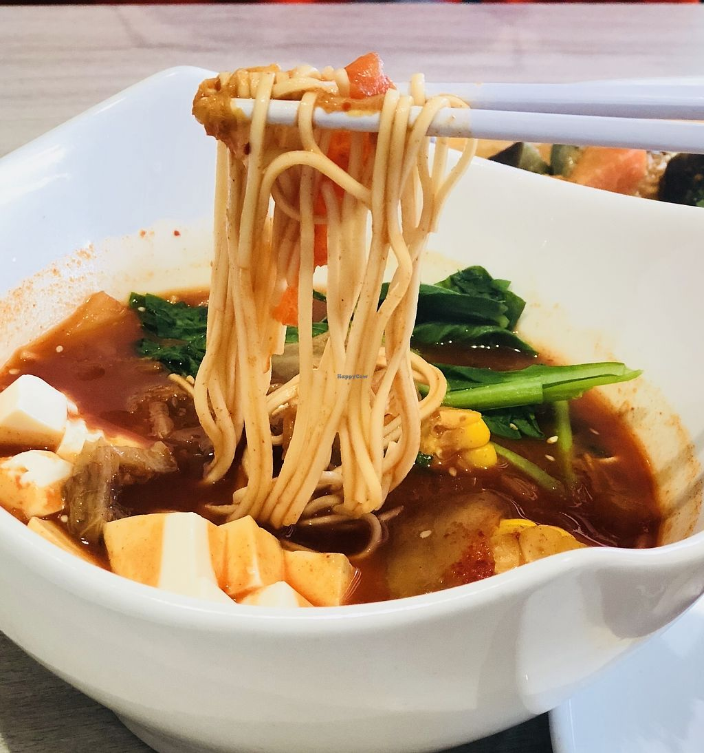 """Photo of O'bean Organic Soya Vegetarian Restaurant  by <a href=""""/members/profile/CherylQuincy"""">CherylQuincy</a> <br/>Kimchi soup Ramen <br/> February 25, 2018  - <a href='/contact/abuse/image/110791/363689'>Report</a>"""