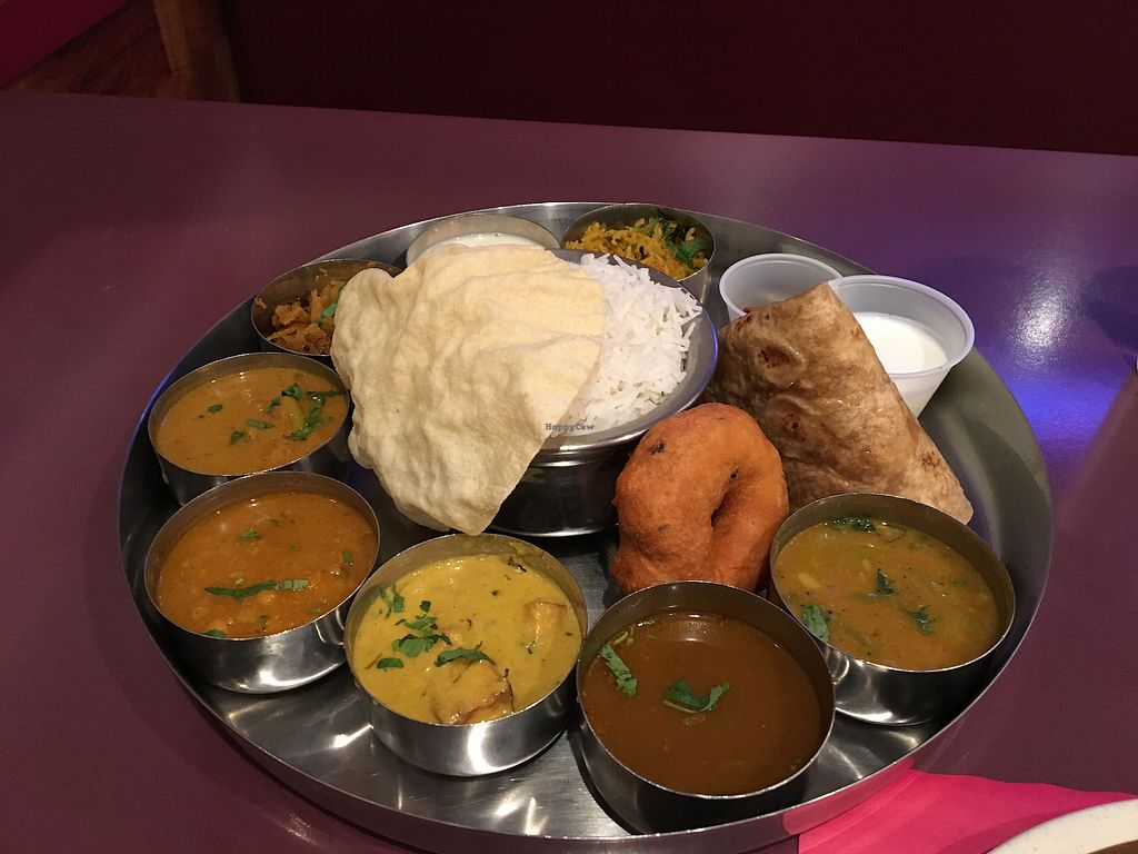 """Photo of Dosa Temple - Ashland  by <a href=""""/members/profile/nlukas51"""">nlukas51</a> <br/>The best thali <br/> November 3, 2017  - <a href='/contact/abuse/image/11080/321311'>Report</a>"""