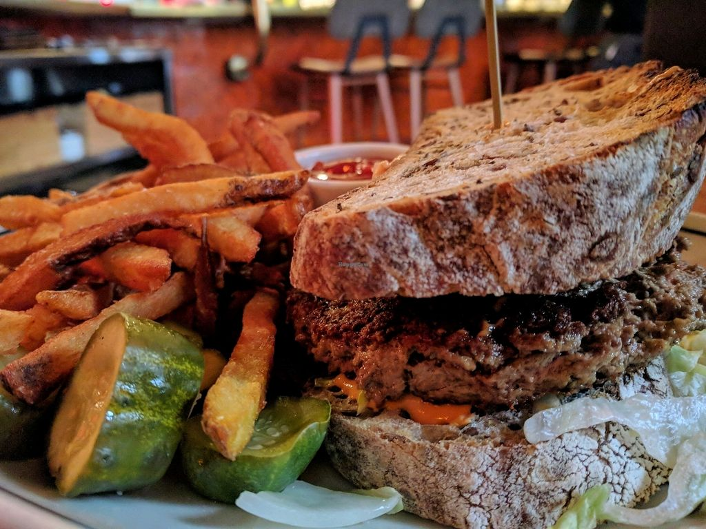 "Photo of The Carlile Room  by <a href=""/members/profile/The%20Hungry%20Vegan"">The Hungry Vegan</a> <br/>Impossible Burger <br/> March 22, 2018  - <a href='/contact/abuse/image/110814/374190'>Report</a>"