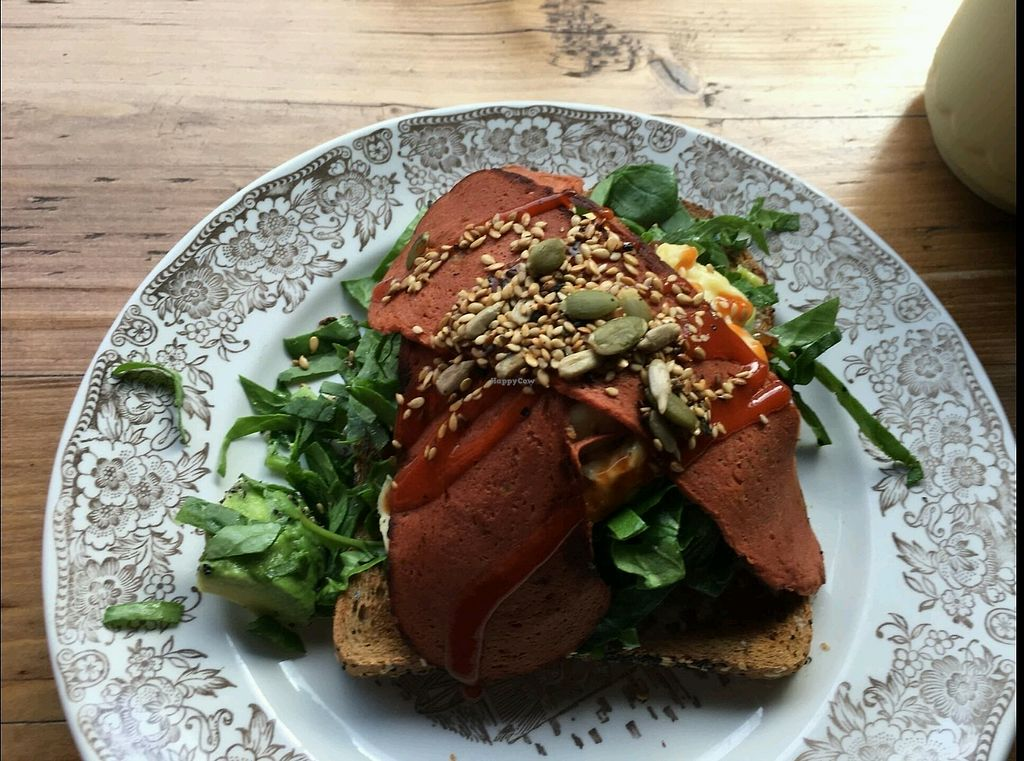 """Photo of Meadow Road Coffee  by <a href=""""/members/profile/Friendly%20Fag"""">Friendly Fag</a> <br/>tofu scramble with bacon <br/> February 23, 2018  - <a href='/contact/abuse/image/110851/362818'>Report</a>"""