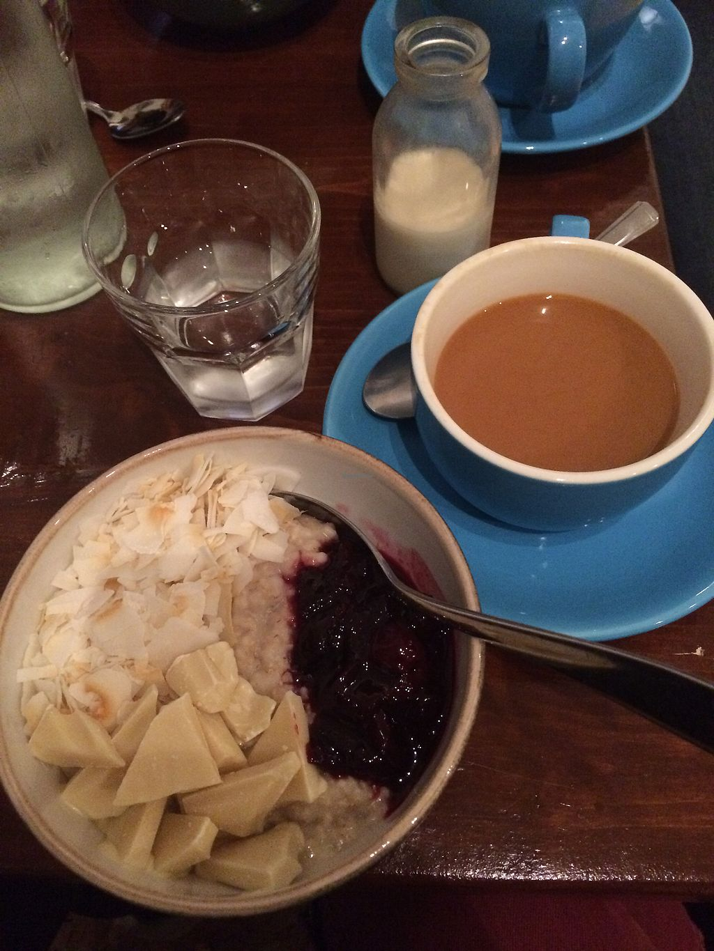 """Photo of Bristol Porridge Project  by <a href=""""/members/profile/KylaJack"""">KylaJack</a> <br/>White chocolate, cherry and coconut porridge!  <br/> March 28, 2018  - <a href='/contact/abuse/image/110917/377365'>Report</a>"""
